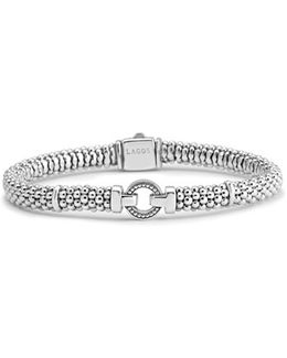 Enso Boxed Circle Station Caviar Rope Bracelet
