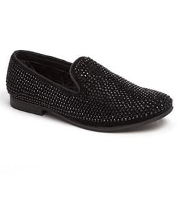 Men ́s Caviarr Crystal Embellishment Slip On Loafer