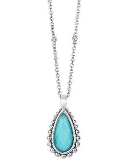 'maya' Teardrop Pendant Necklace