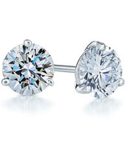 0.50ct Tw Diamond & Platinum Stud Earrings
