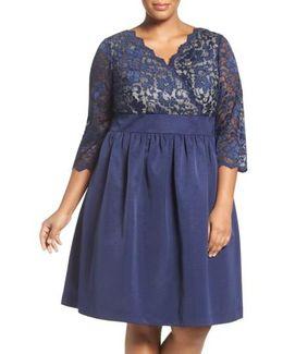 Lace & Faille Dress
