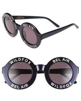 'bel Air' 44mm Sunglasses - Navy Blue/ Grey Solid