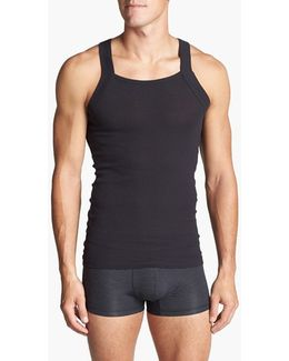 2-pack Cotton Tank Top, Black