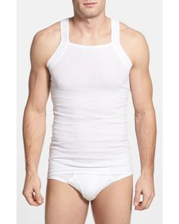 2-pack Cotton Tank Top, White