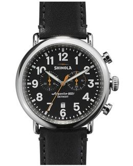 The Runwell Chrono Leather Strap Watch