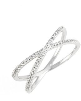 Stackable Crossover Diamond Ring (nordstrom Exclusive)
