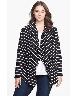 Stripe Fleece Wrap