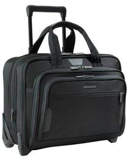 'medium' Expandable Rolling Ballistic Nylon Briefcase