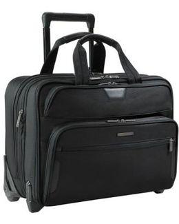 'large' Expandable Rolling Ballistic Nylon Briefcase