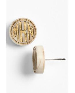 'chelsea' Small Personalized Monogram Stud Earrings