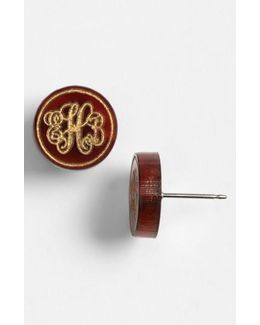 'chelsea' Small Personalized Monogram Stud Earrings (nordstrom Exclusive)