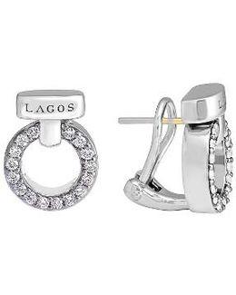 'enso - Circle Game' Diamond Stud Earrings