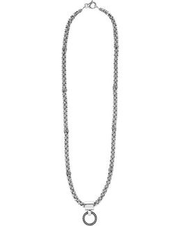 'enso' Pendant Caviar Rope Necklace