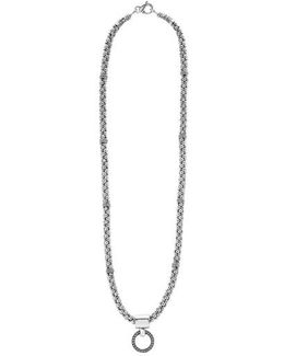 'enso' Pendant Caviar Rope Necklace