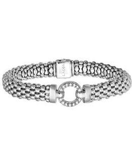 'enso - Circle Game' Diamond Caviar Rope Bracelet