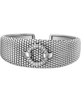 'enso - Circle Game' Diamond Caviar Cuff