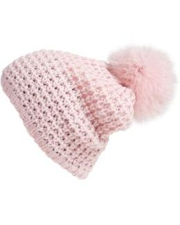 Genuine Fox Pompom Hat