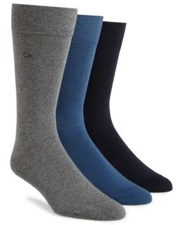 Assorted 3-pack Socks, Blue