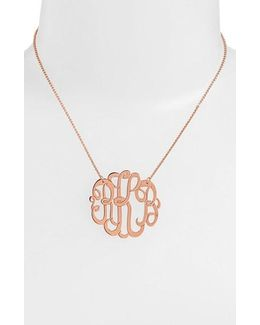 Personalized Large 3-initial Letter Monogram Necklace (nordstrom Exclusive)