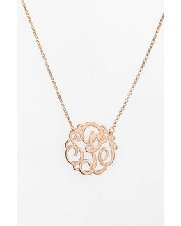Personalized Small 3-initial Letter Monogram Necklace (nordstrom Exclusive)
