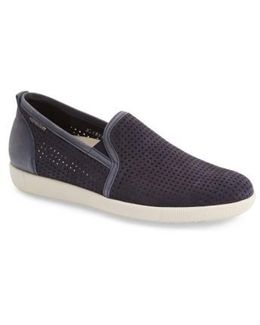 'ulrich' Perforated Leather Slip-on
