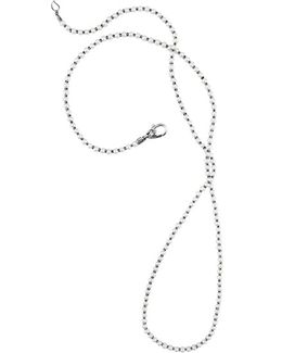 'luna' Long Micro Bead & Pearl Necklace