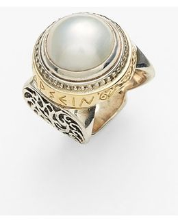 'classics - Courage' Pearl Ring