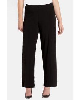 Straight Leg Matte Jersey Pants