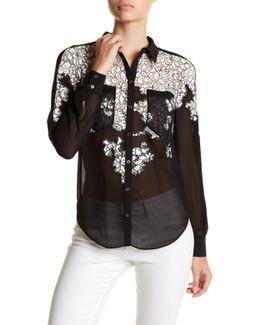 Decorative Evening Lace Shirt