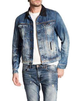 Elshar Genuine Leather Collar Jacket