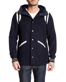 J-bomb Faux Leather Stripe Jacket