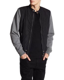 Zip Up Knit Sleeve Jacket