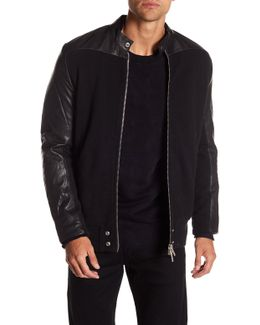 Grohl Leather Panel Jacket