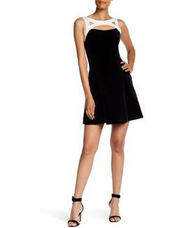 Cutout Velvet Dress