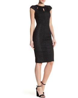 Texture Cap Sleeve Dress