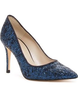 Glitter Pointed Toe Pump