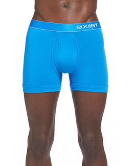 Stretch Pima Cotton Boxer Briefs