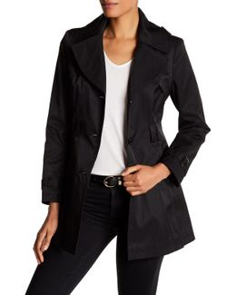 Detachable Hood Trench Coat (petite)