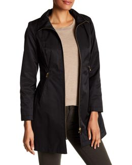 Seamed Funnel Neck Coat (petite)
