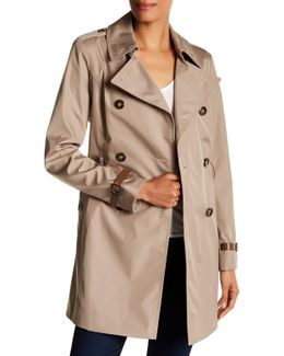 Double Breasted Bonded Trench Coat