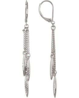 Crystal Detail Triple Strand Drop Earrings