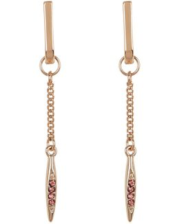 Crystal Detail Chain Drop Earrings