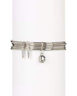 Crystal Detail Mutli Layer Bangle