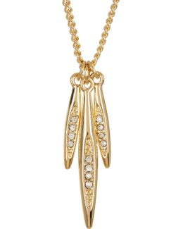 Crystal Detail Marquise Charm Necklace