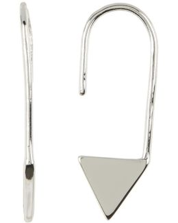 Crystal Detail Triangle Ear Threader Earrings