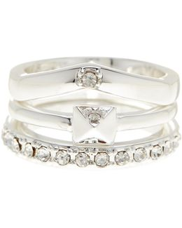 Crystal Detail Ring 3-piece Set