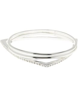 Crystal Detail Bangle - Set Of 3