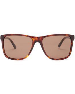 Men's Square Acetate Frame Sunglasses