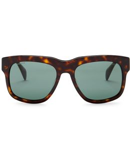 Men's Catwalk Oversized Wayfarer Acetate Frame Sunglasses