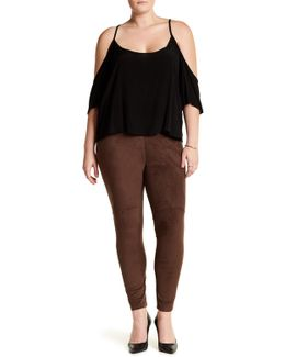 High Waist Faux Suede Legging (plus Size)